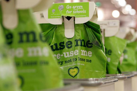 Asda: money raised from its carrier bags