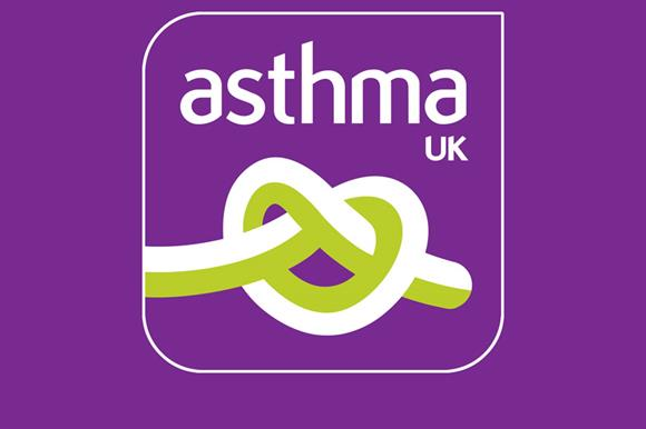 Asthma UK: funded solely by donations