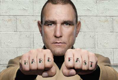 Former footballer Vinnie Jones appears in a video for the British Heart Foundation