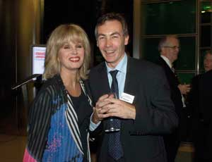 James Magowan of CFNI with actor Joanna Lumley, the main speaker at the awards,