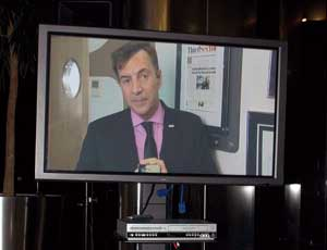 Duncan Bannatyne, who was on holiday,  sent a video message to the awards ceremony