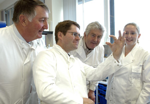 Kevin Brennan visits the Cardiff School of Biosciences at the University of Cardiff in 2006
