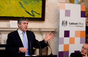 Brown speaks at the Social Enterprise Action Plan lauch (Credit: Rob Matthews)