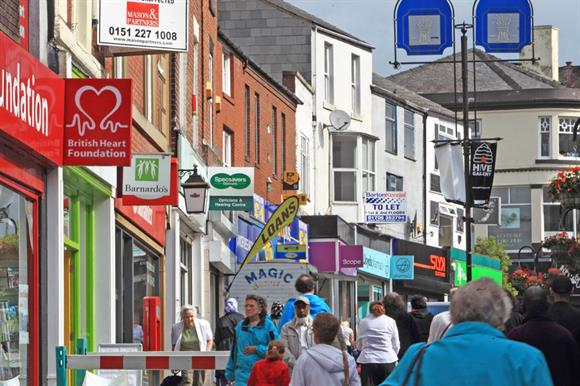 Charity shops on the high street