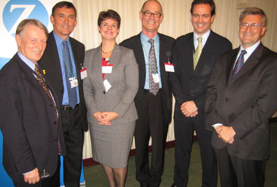 Kevin Curley (second from left) at his leaving reception