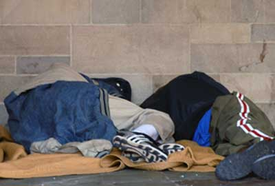 Charities, including Crisis UK, work with the homeless