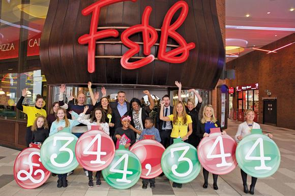 The final total was more than £90,000 above the target