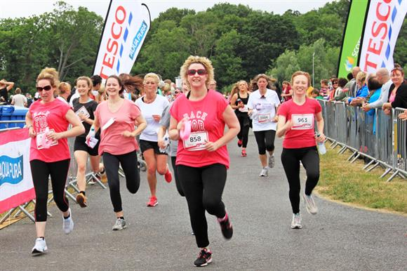 Tesco banners at a Race for Life