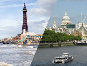 Blackpool and London