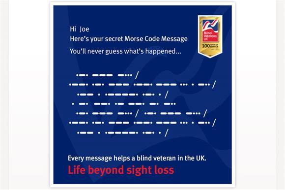 Blind Veterans UK's Morse Code Machine