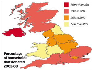 The geography of giving in the UK