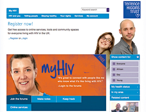 Terrence Higgins Trust's My HIV site