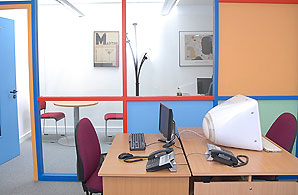An office inside the Ealing Community Resource Centre