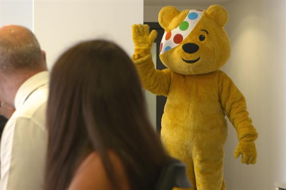 Pudsey waves from Lookers meeting