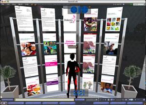 Diabetes UK's Second Life digital tour