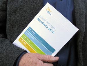 The Liberal Democrat manifesto
