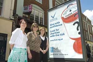 Tick of approval: the FRSB gets the message out in Hull