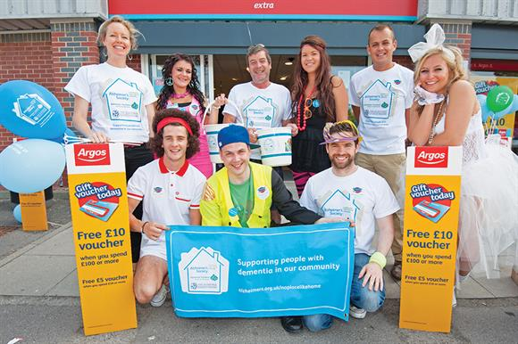 Argos staff are among those to have raised money for the Alzheimer's Society