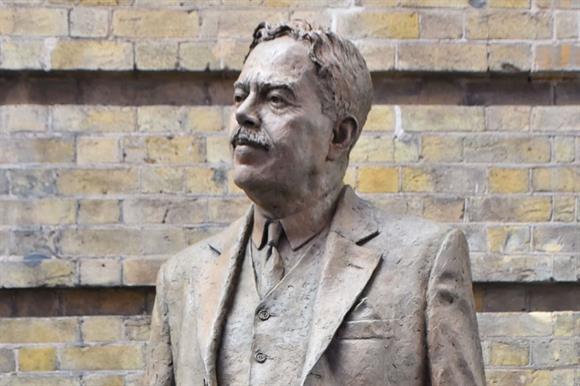 The statue of Sir Nigel Gresley