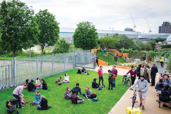 Community Space Regeneration at Cody Dock, Newham, funded by Veolia Environmental Trust