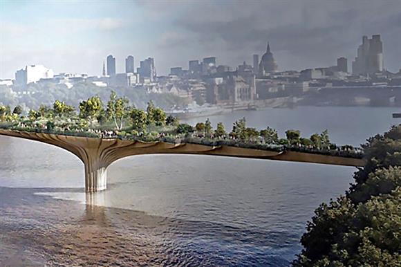 London Garden Bridge: uncertain future