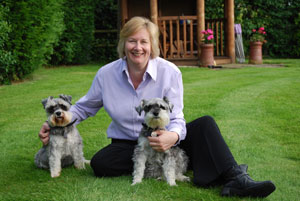 Kim Hamilton with her dogs Hannah and Emmie