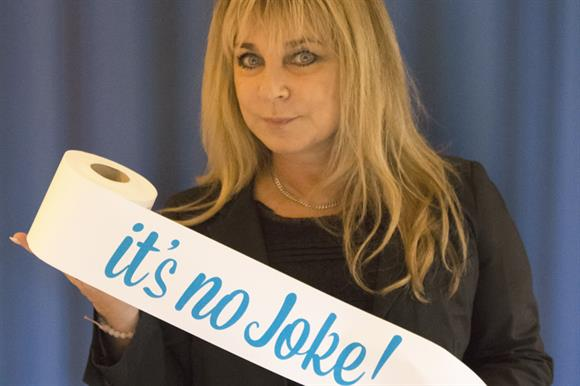 Comedian Helen Lederer is supporting the It's No Joke campaign