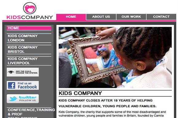 Kids Company website