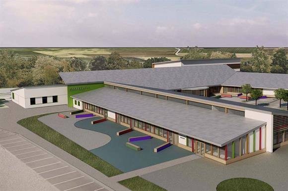 An artist's impression of the relocated school
