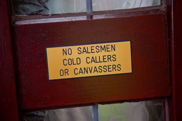 No-cold-calling signs: must not be ignored