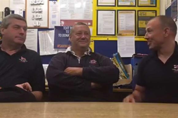 The crew from Tower RNLI on Facebook Live
