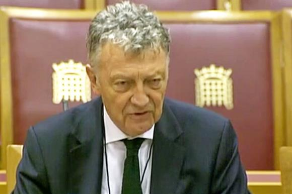 Shawcross at the committee hearing