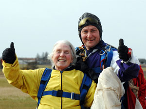 Action hero: 78-year-old Barbara Riddle