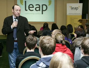Usual suspects: Spacey makes his point at the conference