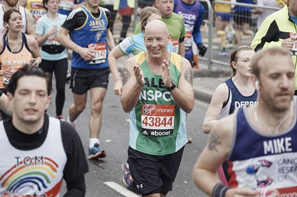 NSPCC runner in this year's London Marathon