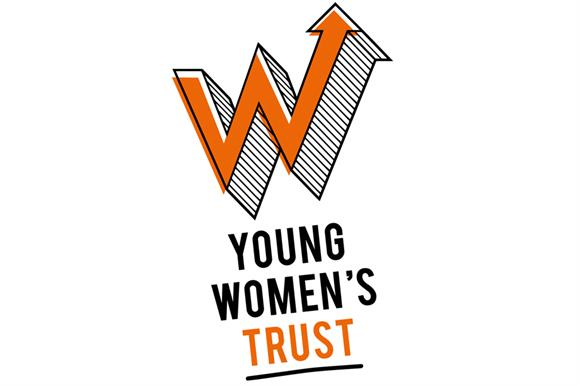 The chief executive of the Young Women's Trust Carole Easton, and its new logo