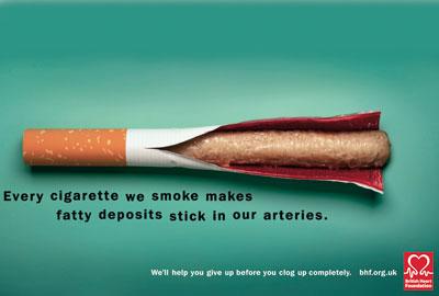 BHF's Fatty Cigarettes campaign