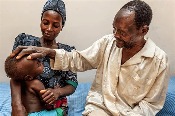 Winesi March sees his grandson for the first time