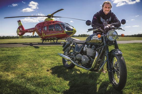 Carl Fogarty races for Midlands Air Ambulance Charity