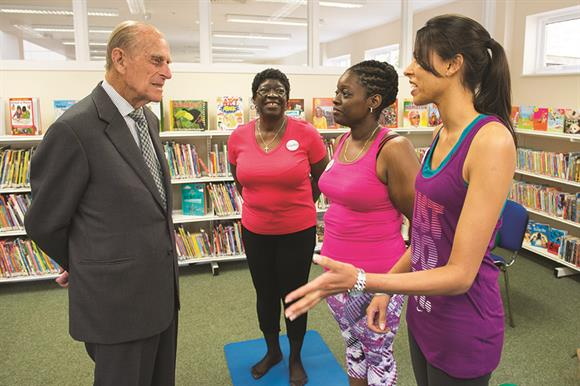 The duke wows a community centre in east London