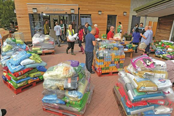 Manchester Dog's Home: donations from the public flooded in after a fire (photo: The Sun)