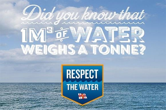 One of the images posted on Twitter as part of the RNLI's Respect the Water campaign