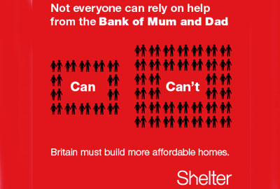 Shelter's Bank of Mum and Dad campaign
