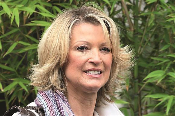 Gillian Taylforth: good for warming up cold responders