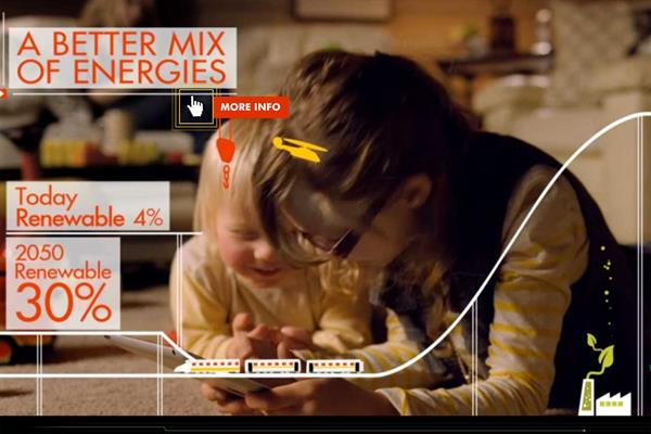 Shell ''global energy mix interactive'' by JWT London