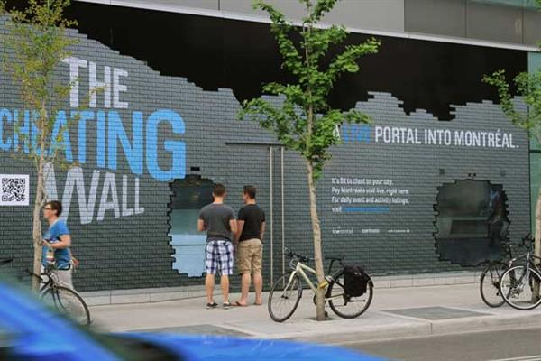 Toronto 'cheating wall' by Crispin Porter & Bogusky