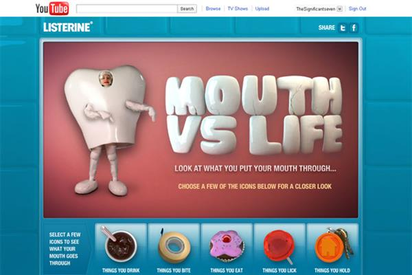 Listerine 'mouth vs life' by JWT London
