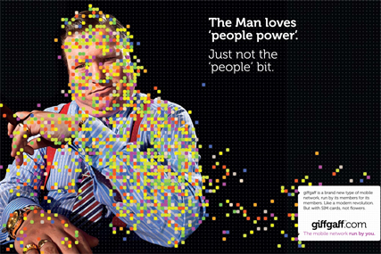 Giffgaff 'the man' by Albion
