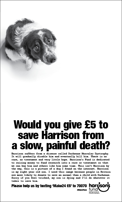 Harrisons 'I wish my son was a dog', by ais