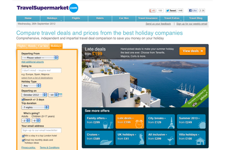 TravelSupermarket: online price comparison service